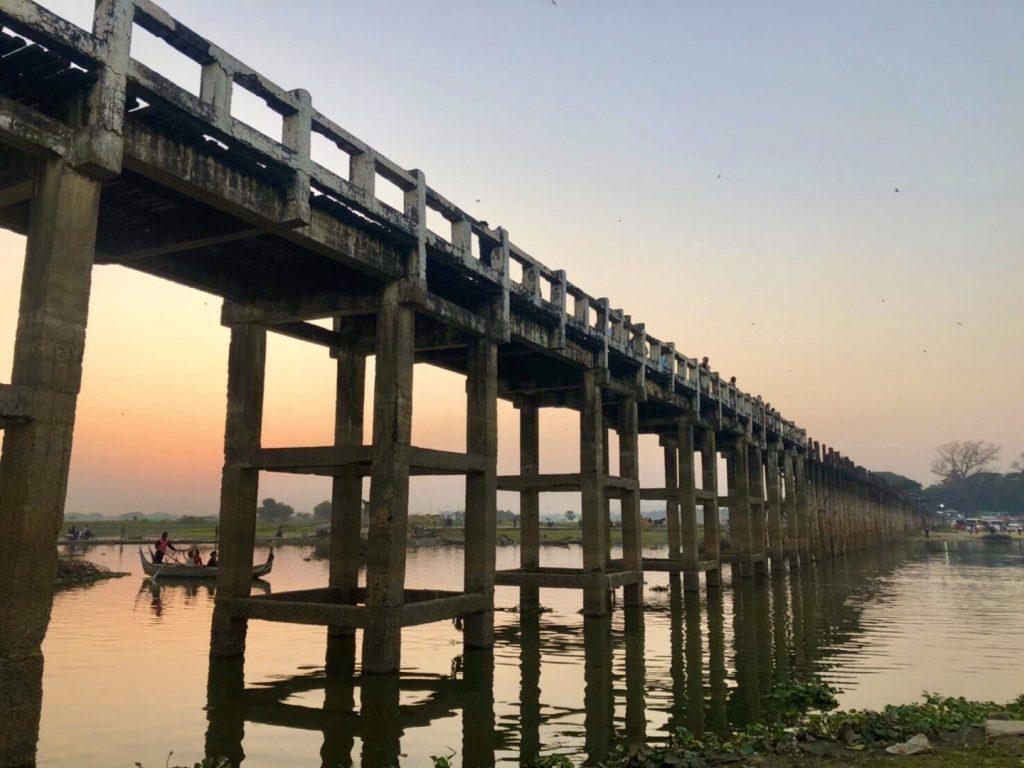 緬甸旅遊。第四天茵萊湖~黑河~曼德勒。烏本橋~世界最大柚木橋【Miss 飛妮】 @Miss 飛妮
