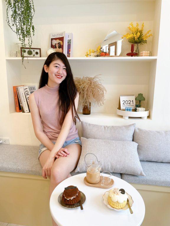 新竹竹北美食。Lambkin Cafe。韓系美拍下午茶咖啡屋。無負擔不甜膩的天使蛋糕。東興國中美食[Miss飛妮] @Miss 飛妮